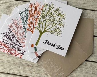 Autumn Splendor - Thank You Note Cards Set: 6 Cards | Gratitude Card, Grateful for You, Thank You Gift, Appreciation Card, Note of Thanks
