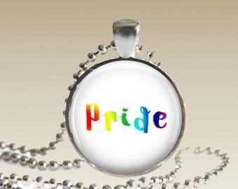 Gay Pride Necklace Gay Pride Pendant Pride Necklace LGTB Necklace N161