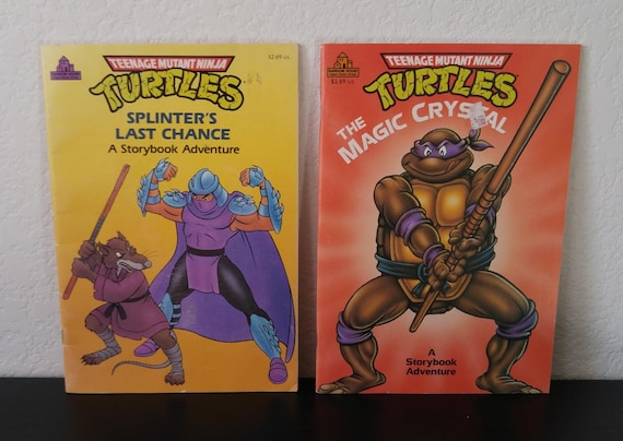 Vintage Teenage Mutant Ninja Turtles Book Bundle 2 Books Etsy