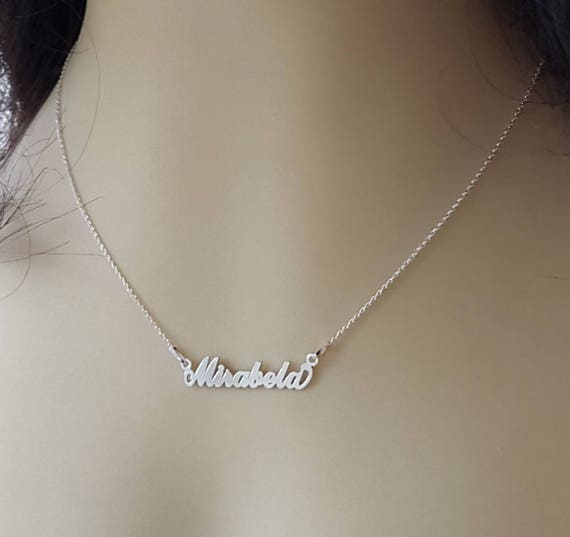 Name Necklace Sterling Silver, Choose your name necklace Sterling silver .925 (silver, gold plated or rose-gold), Minimal Jewellery Pendant