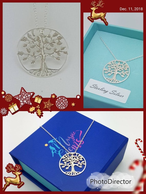 Irish Tree of Life Silver Necklace Celtic Family Necklace Sterling Silver Gift for Siblings Sister Mother Mother-in-Law Nickel free Silver