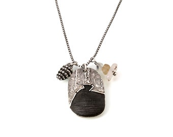 Going to the Sun Road, Necklace, Glacier Park, Sterling Silver, Trail of Cedars, Charm Necklace, Glacier National, Glacier Necklace, 1338a