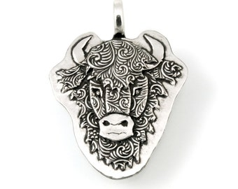 Sterling Silver, Bison Pendant, Buffalo, Bison, Buffalo Pendant, Bison Buffalo, Animal Totem, Buffalo Jewelry, Bison Jewelry, Totem, 986c