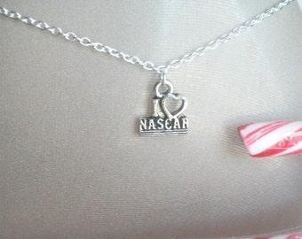 NASCAR Anklet, Auto Racing Ankle Bracelet,I Love NASCAR, Daytona, Jeff Gordon, Tony Stewart, Dale Earnhardt, #3, Race Track, NASCAR Jewelry