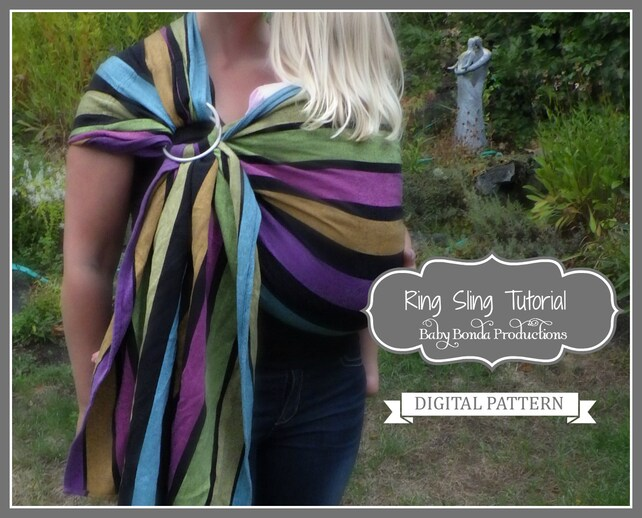 Ring Sling Sew Your Own Baby Carrier Epattern Pdf Sewing Etsy