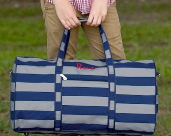 6adcb0e8bb11 Greyson Duffel Bag - Monogram Duffel Bag - Boy s Duffel Bag - Gray Navy  Duffel - Duffel Bag - Boy s Travel Duffel - Boy s Weekender Bag