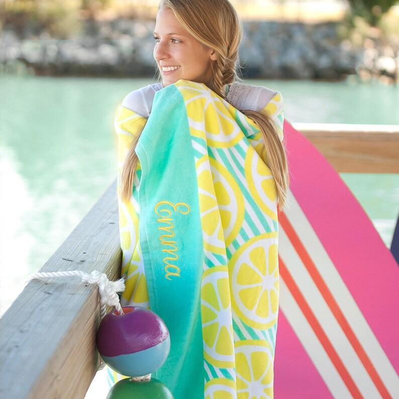 Girl/'s Gift Throw Blanket Main Squeeze Blanket Gift for Her Blanket Girl/'s Blanket Monogrammed Blanket Mint /& Yellow Blanket