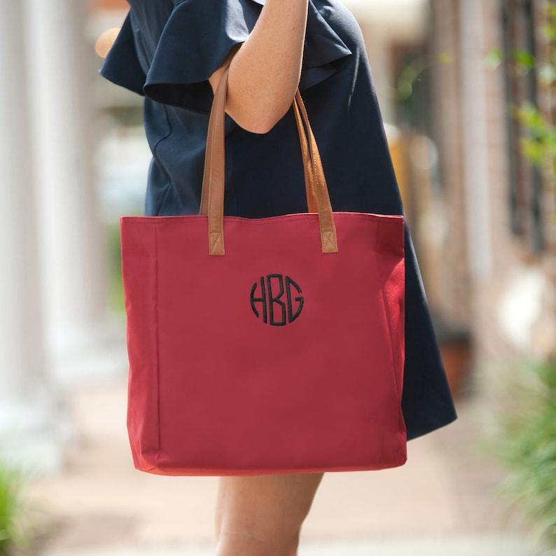 39d0b5cfc7 Garnet Shoulder Bag Monogram Bag Initials Garnet Bag