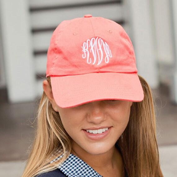 aac74ebd8cd Coral Ball Cap Personalized Cap Women s Hat Baseball