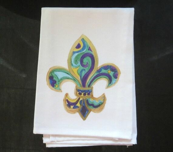 Hand Towel Fleur De Lis Kitchen Towel New Orleans Hand Etsy