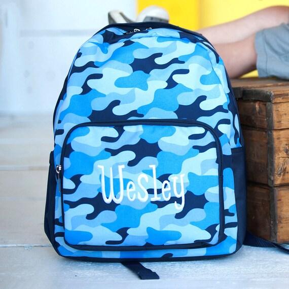 Camo Preschool Backpack Monogram Boys Knapsack  e32d74bdc3e62