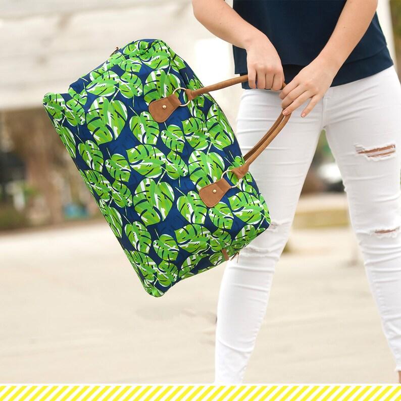 6bf6c1c625b Lola Travel Bag - Weekender Bag - Monogram Tote Bag - Women's Travel Bag -  Large Tote Bag - Womens Gift - Mother's Day Gift - Navy Green Bag