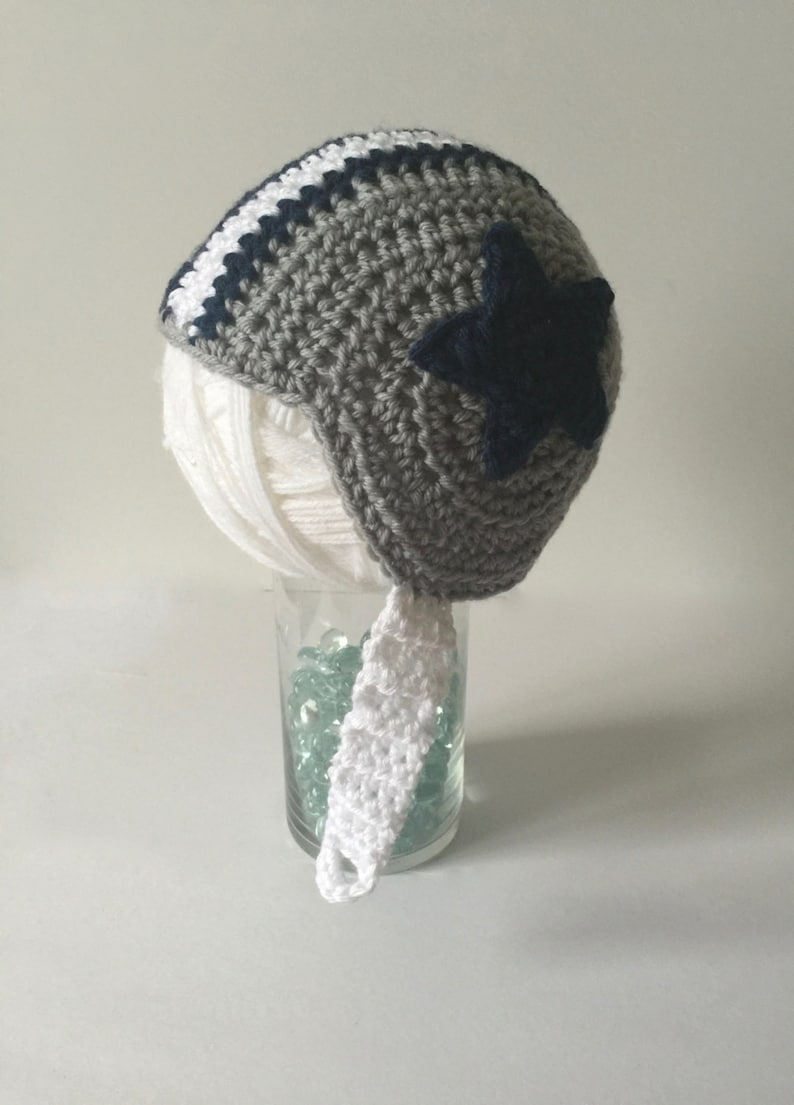 best sneakers 3e922 553ac Baby football hat, Cowboys football helmet, Dallas Cowboys baby, Cowboys  photo prop, newborn photo prop, crocheted football helmet