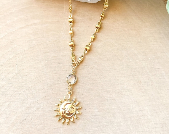 Sun/Moon Charm Necklace