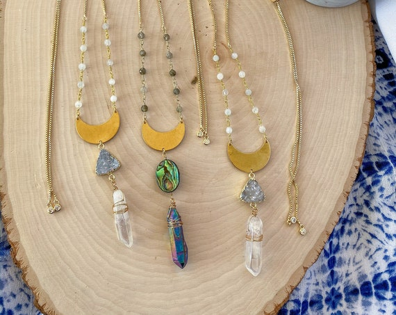 Quartz Crystal Bohemian Necklace