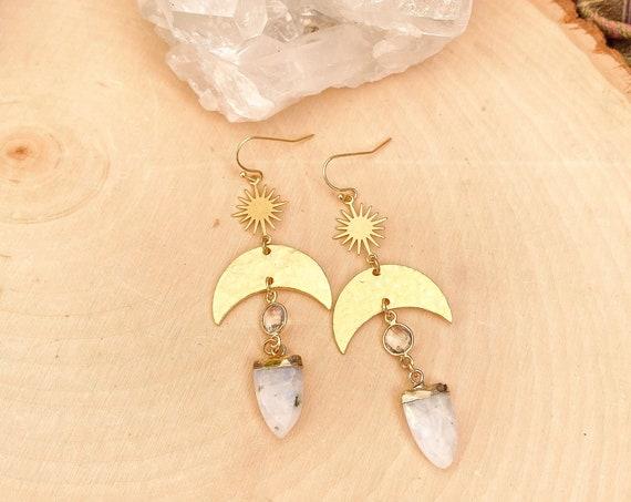 Boho Crescent Earrings