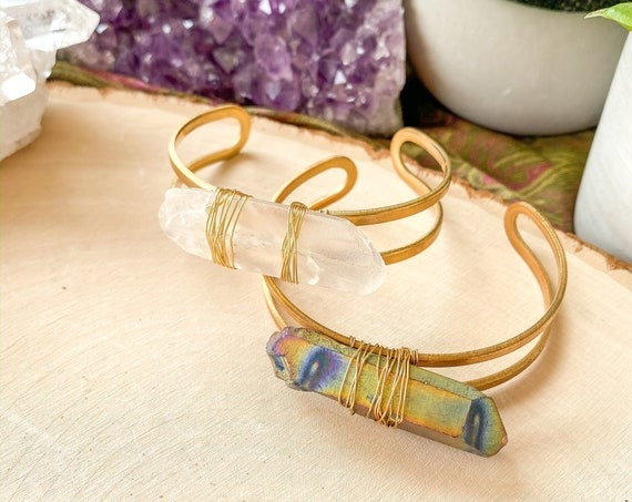 Quartz Crystal Statement Cuff