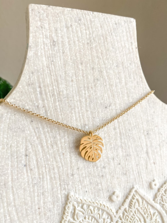 Monstera Leaf Charm Necklace