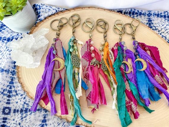 Sari Silk Bag Charm