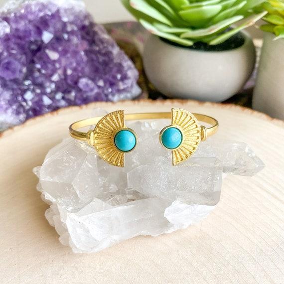 Turquoise Boho Cuff Bracelet