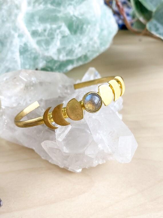 Moon Phase Cuff Bracelet
