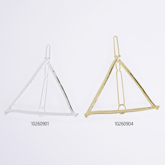 1 34*2 14 Triangle hair clip stylish hair clip minimal barrette minimal hair clip geometric Hair Pin Accessory 5pcs 102609