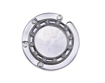 1 pcs Rhinestone Purse Holder Purse Hook Hanger fit 30mm Round Glass Dome Cabochon,Bag Hook Blanks 10113350