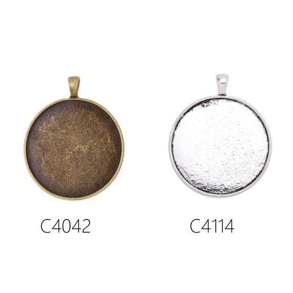 30*40MM Oval Antique Colour Zinc Alloy Cameo Cabochon Pendant Trays Bases 20Pcs