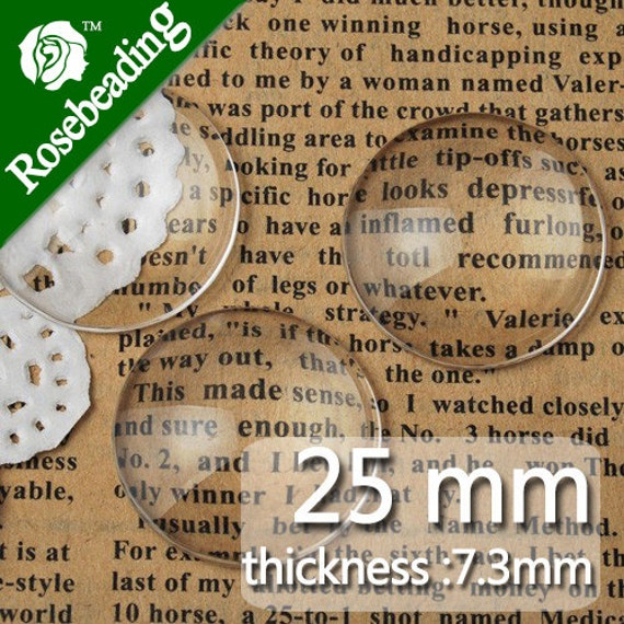 "25mm 1/"" 1 inch Clear Square Glass Dome Cabochon Glass Tile Flatback 100pcs C1067"