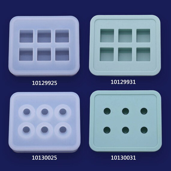 1pcs Teardrop Shaped Mould Transparent Silicone Mold DIY Hole Pendant 10097927