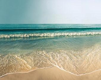 coastal decor nautical ocean decor waves print beach photography landscape ocean photo beach art print coastal wall art beach teal green