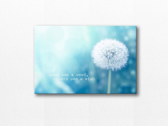 Canvas Wall Art Quote Canvas Dandelion Canvas Dandelion Wall | Etsy