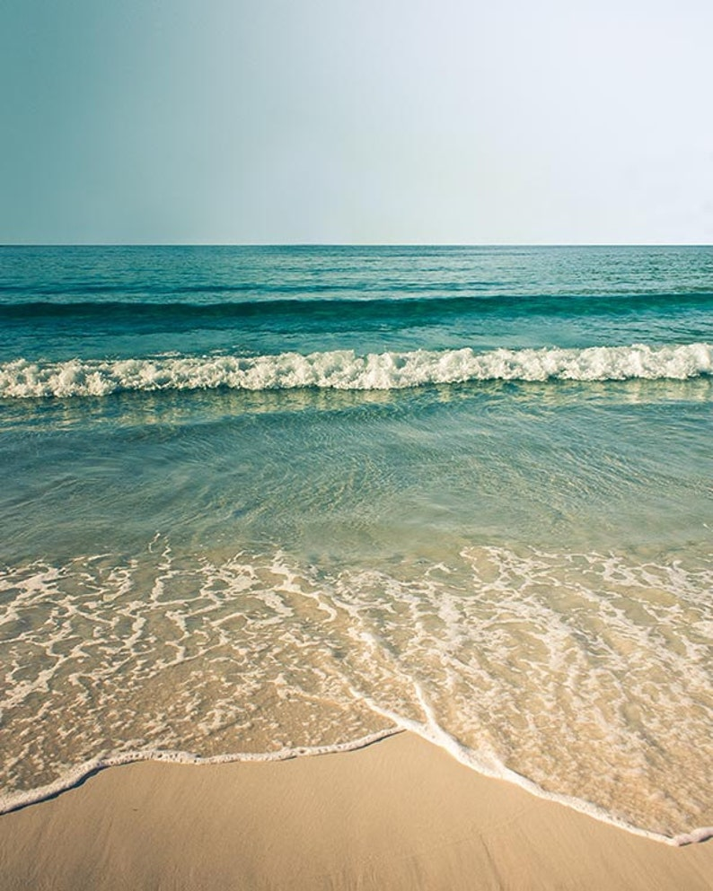 Beach photography vintage inspired coastal print beach scene image 0