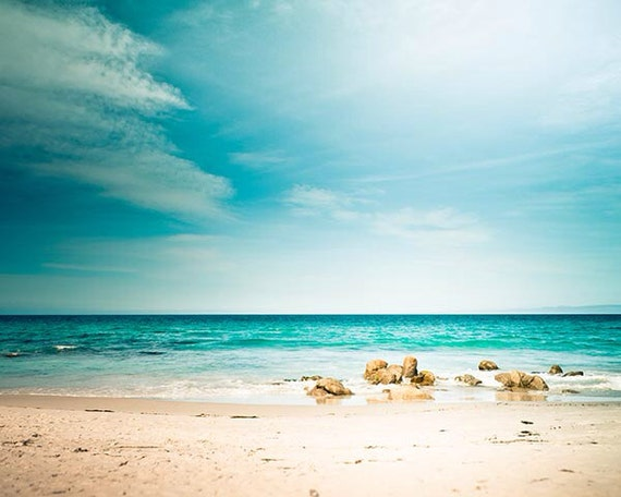 Ocean Photography Beach Scene 8x10 Print Nautical Decor Waves Etsy