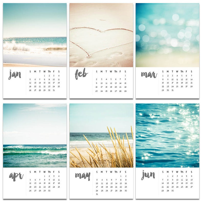 2020 calendar nautical decor beach photography calendar 2020 4x6 ocean  calendar with easel 2020 calendar with stand mini desk calendar