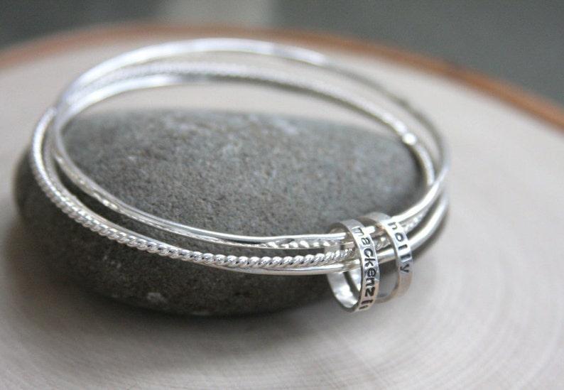 1df714c2effa Bangle bracelets set of bangles hand stamped bangles hand
