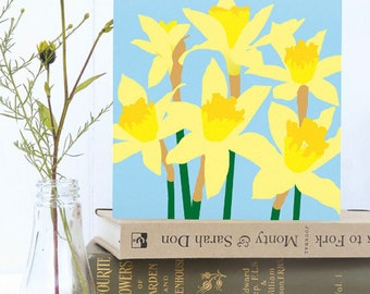 Daffodils card - Easter, Spring, Mother's Day, flower card