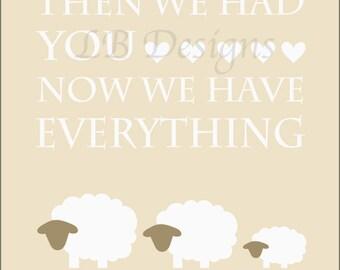 Gender Neutral Sheep Nursery Art, Gender Neutral Nursery Print, Lamb Nursery Print, Sheep Nursery Decor, Gender Neutral Baby Shower Gift