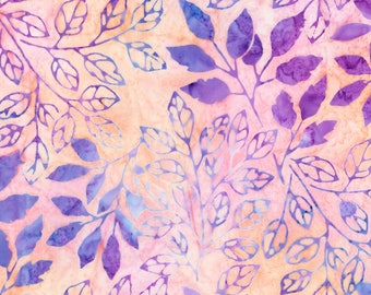 Pink Branch Batik # AMD1894210 From Robert Kaufman By Lunn Studios-By Full and Half Yard