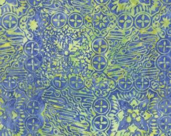 Laguna Soleil Tonga Batik - Timeless Treasures B6248-LAGUNA - Blue and Yellow Batik Fabric  -By Full and Half Yard