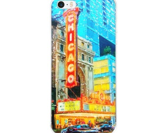 This is Chicago City Travel Souvenir Architecture Watercolor Tamer Animals Phone iPhone Case