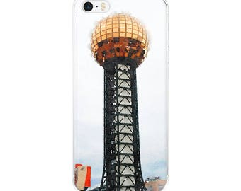 Not a Wig Shop Knoxville Tennessee Worlds Fair Sunsphere Phone Tamer Animals Travel Watercolor iPhone Case