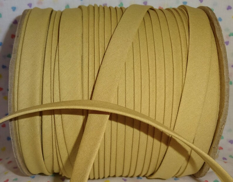 10 yds WHEAT 12 EXTRA Wide Double Fold Bias Tape 100/% Made in America