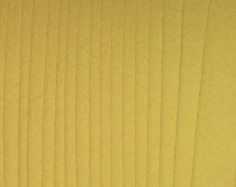 "LEMON DROP Yellow 1/2"" Extra Wide Double Fold Bias Tape BTY 100% Made in America"