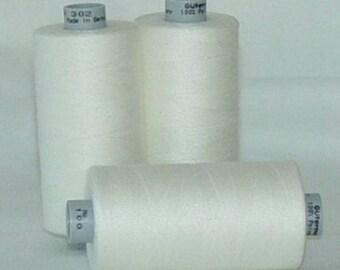 Sewing Thread OYSTER CREAM 1,094 yd Polyester Gutermann Mara 100  ONE (1) Spool Oyster Cream 111