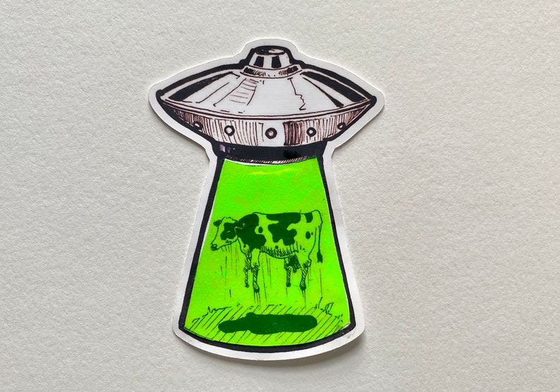 Psychedelic Alien sticker image 0