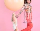 Peach Bellini Tassel Garland (Peach and Champagne), OR Garland + Balloon, OR Mini (Free Shipping)