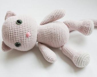 Amigurumi Crochet Cat Pattern - PDF Tutorial - Instant Download - Printable - In English