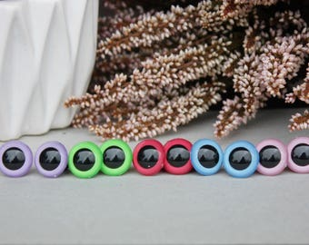 15mm Safety Eyes, Hand Painted, for Amigurumi Toys, Plushes, Stuffed Animals