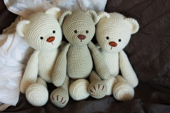 Crochet Amigurumi Classic Teddy Bear PATTERN - Lucas the Teddy - Traditional Teddy Crochet PDF Tutorial - In English